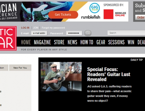 ISI featured in Acoustic Guitar Magazine